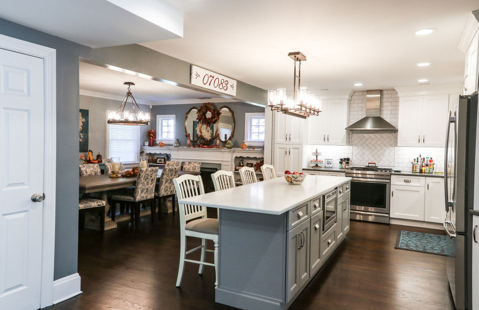 N J Home Makeover 66k To Create A New Kitchen Perfect For Entertaining Nj