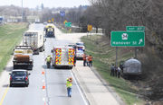 Firefighter hit while changing tire on I-81 has died