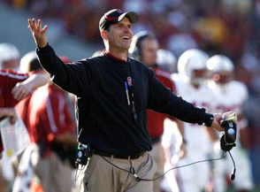 """Jim Harbaugh coached the Cardinal. Indeed, he solidified his rep as a tetchy jerk during his Cardinal-coaching salad days. Just ask Pete Carroll. Carroll's known for being as happy-go-lucky as a football coach can be. The guy's as exuberant as a puppy. But even he had a problem with Harbaugh. The reason: The Cardinal coach ran up the score on Carroll's USC Trojans in 2009, going for a two-point conversion late in the game even though the Trees were way ahead. Carroll met Harbaugh at midfield after the game and asked him, """"What's your deal?"""" Harbaugh's very Stanford response: """"What's your deal?"""" True, the school replaced Harbaugh with the modest, very non-jerky David Shaw, but Harbaugh's Harbaughness lingers."""