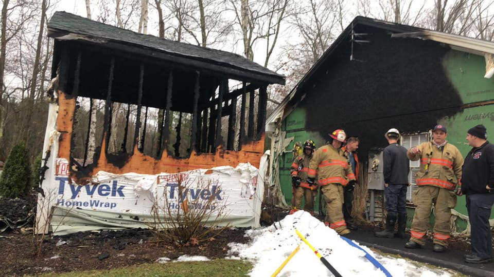 Southampton fire destroys shed, displaces residents of neighboring home