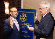 New Rotary Club president installed by D.A. McMahon