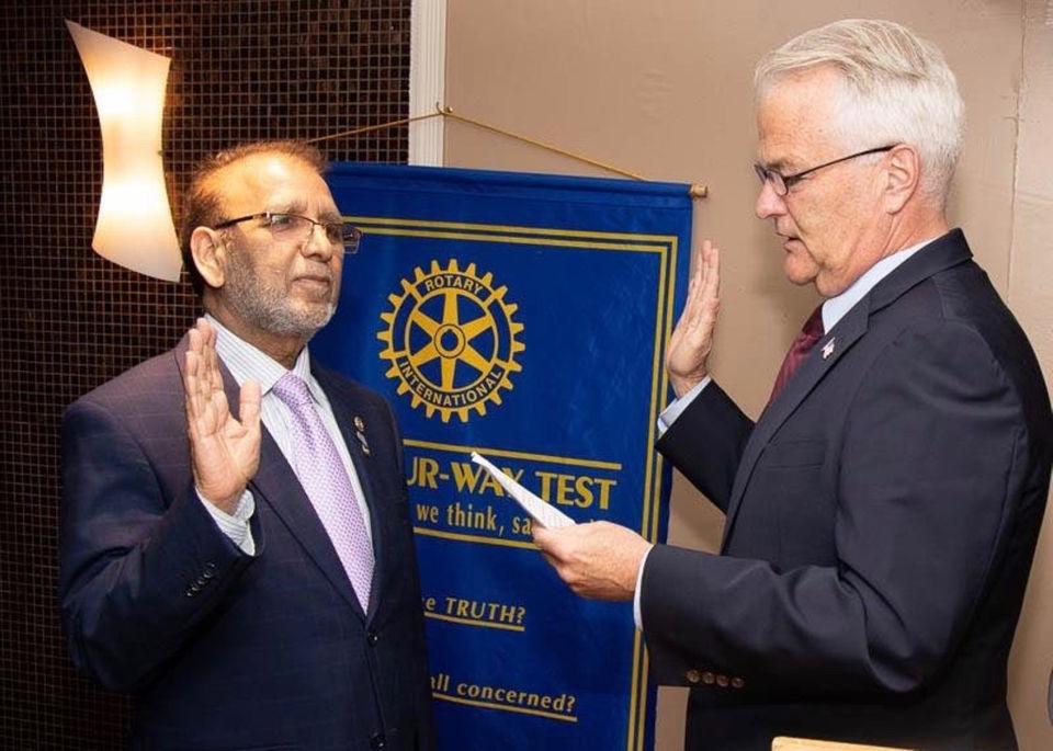 New Rotary Club president installed by Richmond County DA