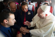 Pope spontaneously marries couple he just met on papal plane in Chile