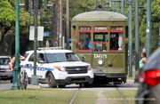 St. Charles streetcar, NOPD vehicle collide in Uptown