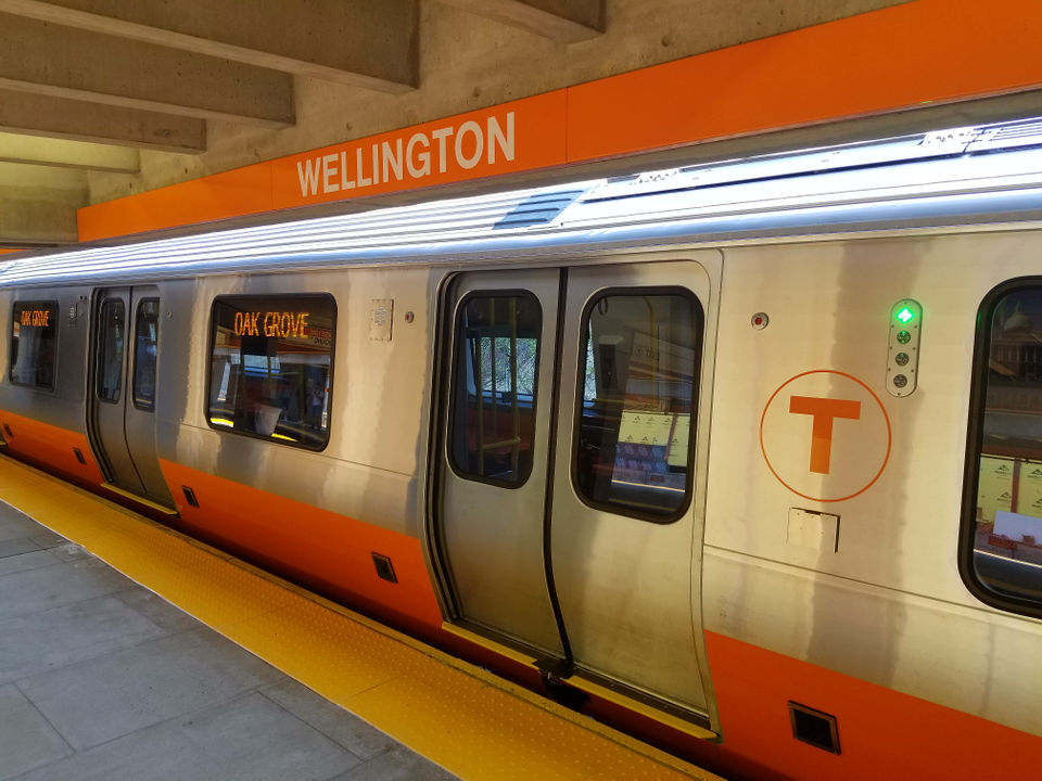 See the mbtas new orange line cars take to a test track in boston see the mbtas new orange line cars take to a test track in boston sciox Gallery