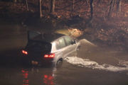 1 rescued after crashing car into Northampton County creek (PHOTOS)