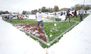 WATCH: Snow what? Phillipsburg community shovels football field for playoff game