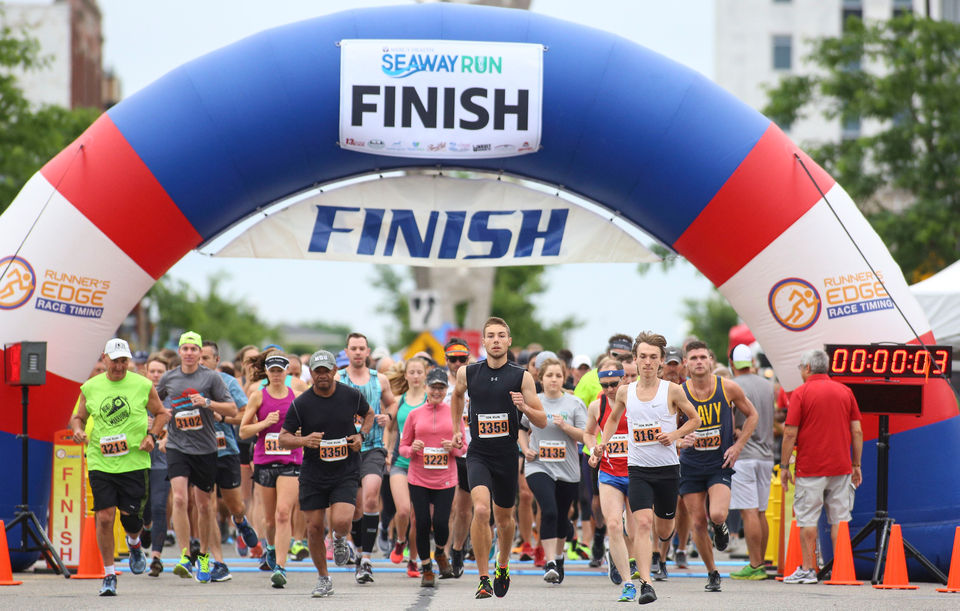 Runners competed in either a half-marathon, 10K or 5K.