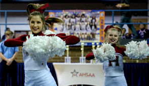 Hartselle competes during the AHSAA state cheerleading finals at Wallace State in Hanceville, Ala., Saturday, Dec. 15, 2018. (Dennis Victory | preps@al.com)