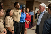 Gov. Snyder notes challenges of school consolidation during Ypsilanti visit