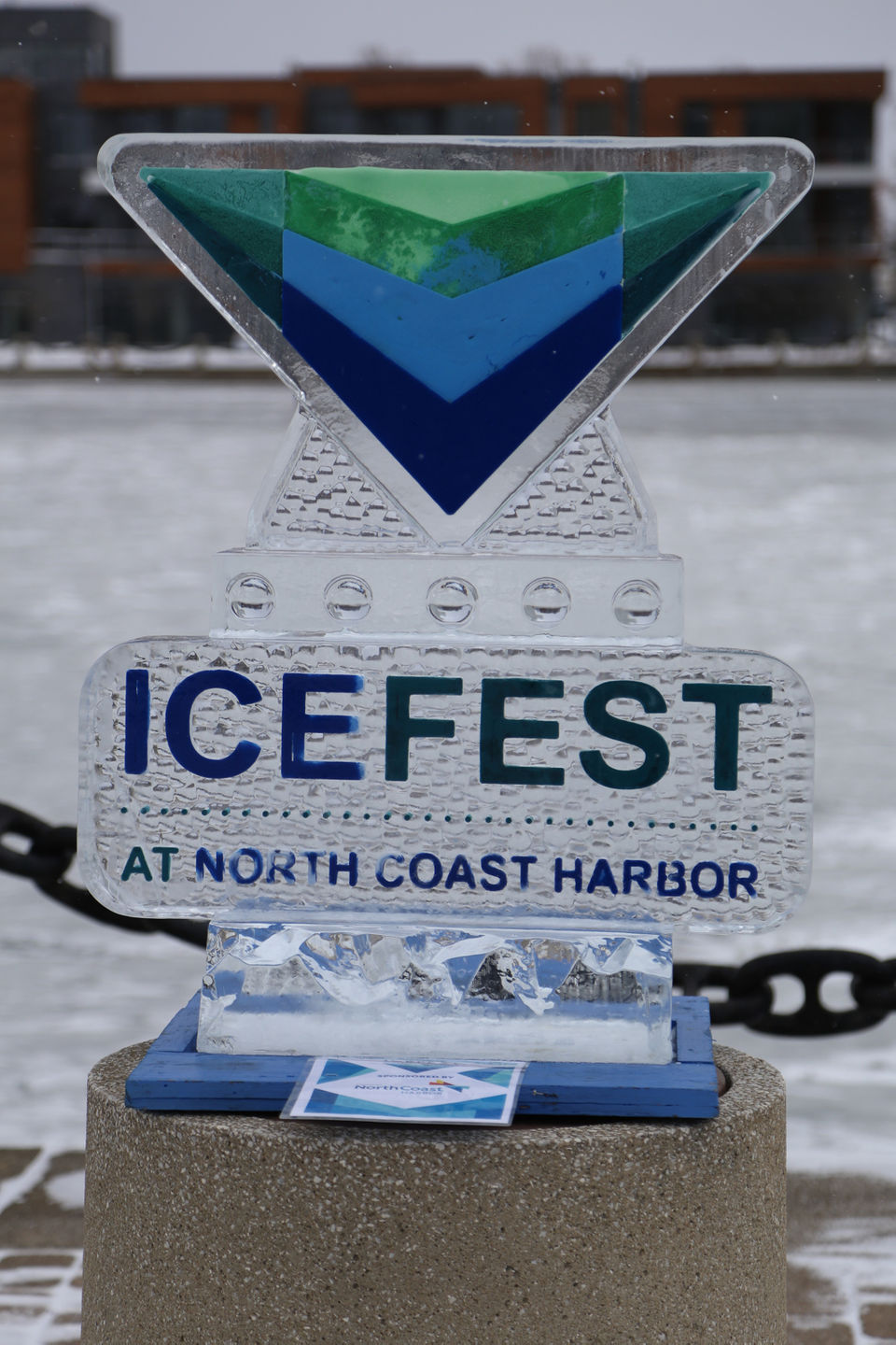 Dozens of ice sculptures on display at the North Coast Harbor Ice Fest