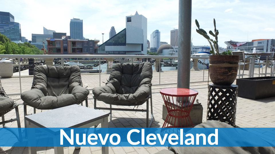 Nuevo Has One Of The Best Views Any Restaurant In City Taking Advantage North Coast Harbor On Lake Erie There Are Sand Volleyball Courts Right