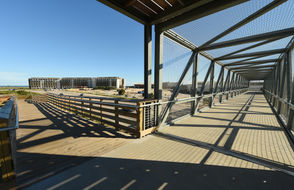 The new elevated walk over allows access to hotel visitors to Gulf State Park. (Joe Songer | jsonger@al.com).