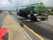 Interstate 10 opens after tanker truck accident cleaned up