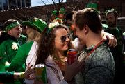 Sunshine and mild temperatures bring hundreds to Irish on Ionia