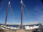 Tall Ship Manitou debuts new look, specialty sails on Grand Traverse Bay