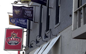 """This one, too, is based off a specific instance -- in Grand Rapids, a restaurant displaying flags for fallen police officers and military veterans was notified the display violated a local zoning ordinance. Bill would let restaurant keep flags honoring police, veterans House Bill 6063, from Rep. Jason Wentworth, R-Clare, would prohibit local governments from regulating or prohibiting signs commemorating veterans, police officers, firefighters, first responders or members of the Armed Forces who died in the line of duty. """"We should be celebrating patriotism and honoring our fallen soldiers and public safety men and women,"""" Wentworth told MLive earlier this year.  """"We should honor and recognize a business that does this type of thing, not restrict or prohibit this."""" The bill passed the House last week and is now pending in the Senate Local Government Committee."""