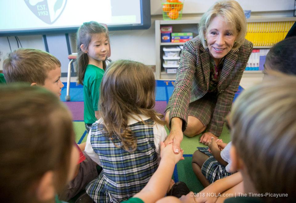 Education Secretary Betsy DeVos visits New Orleans schools