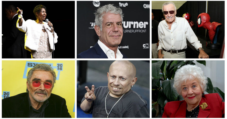 Celebrities we lost in 2018: In memoriam