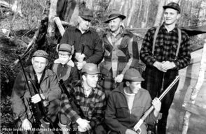 A U.P. hunting crew from November 1958.