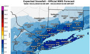 Hey, Chuck, where's our early spring?  Snow forecast for Tuesday, Wednesday