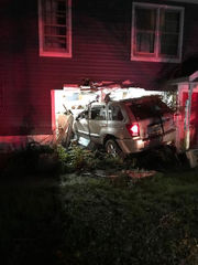 Suspected drunk driver slams into house, found in bush wearing only underpants