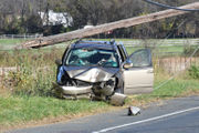 Minivan crash sends 1 to hospital, closes Route 57 (PHOTOS)