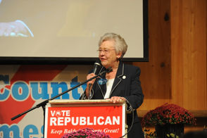 Alabama Gov. Kay Ivey campaigned on Thursday, Oct. 18, 2018, at the Baldwin County GOP fish fry in Fairhope, Ala.