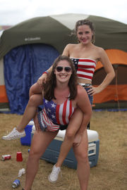 The 40K fans at the Faster Horses Festival are extremely patriotic
