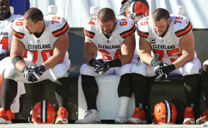 "CLEVELAND, Ohio -- The Browns got a little bit of a scare on Sunday when JC Tretter went to the medical tent. Tretter has been playing on a bad ankle since the Browns' loss to the Chargers on October 14. ""It looked like he (got rolled up on),"" left guard Joel Bitonio said, ""but he's a tough guy, tough guy, he's playing through a lot of pain."" The Browns are shorthanded at the position behind Tretter. Second-round pick Austin Corbett has been working at center, but he has been sidelined with a foot injury for two weeks. St. Edward High School graduate Kyle Kalis was elevated off the practice squad the Saturday prior to the Texans game and warmed up on the sideline while Tretter was in the tent. Tretter made it back on the field, though, so crisis averted. The sixth-year center has been sitting out practices on Wednesday and Thursday and returning to practice on Fridays since suffering the injury. ""It's a testament to him,"" Bitonio said. ""It's a testament that he wants to be something special for this team and be part of it."""