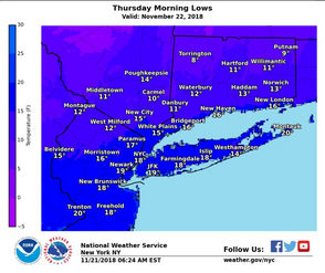 STATEN ISLAND, N.Y. -- Thousands of people bundled up in Manhattan celebrating a holiday amid single-digit wind chills? That's to be expected on New Year's Eve.  But Thanksgiving?  Dangerously cold weather is expected to affect city residents during the holiday Thursday and we are urged to prepare for extreme conditions, according to the New York City Emergency Management Department.