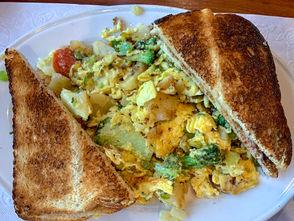 Breakfast at Firekeepers Restaurant, Nedrow, N.Y.