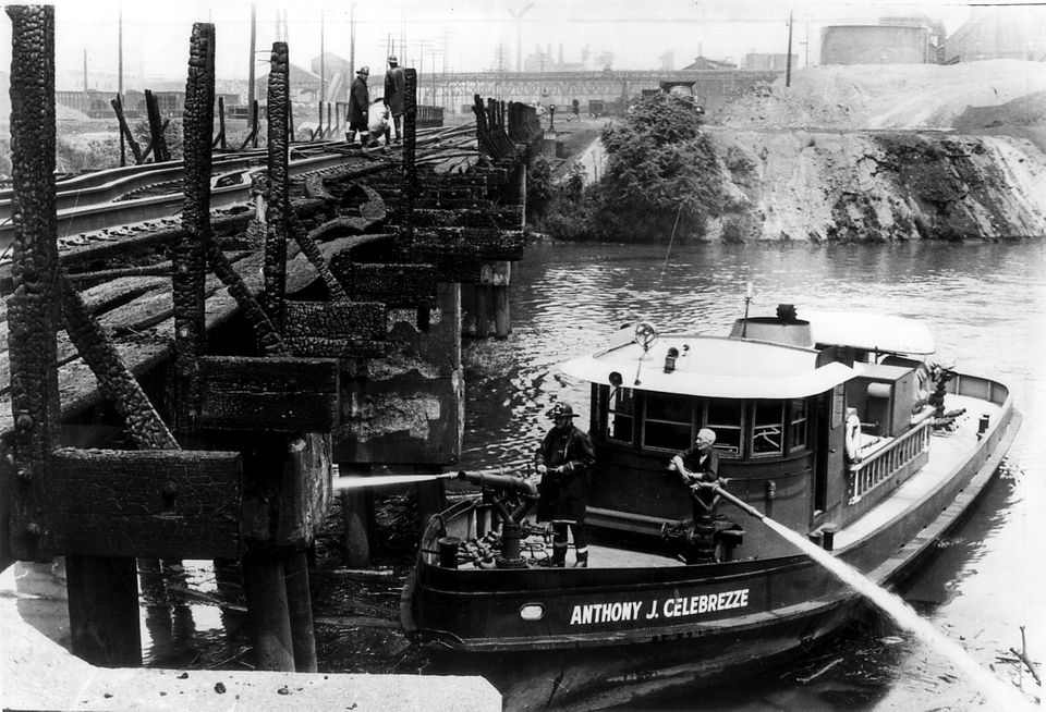 Comparison snapshots: The Cuyahoga River then and now