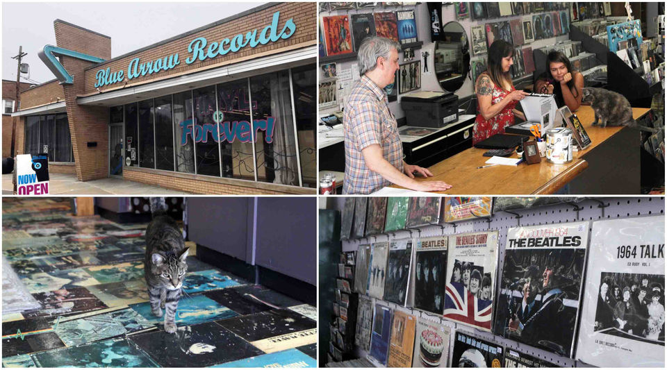 Blue Arrow Records celebrates 10 years of selling vinyl, hosting bands, helping cats (photos)