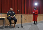 Here's how Michael Harrison spent his first day as Baltimore police chief
