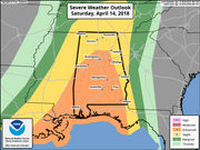 Severe weather a threat to Alabama on Saturday, but when?