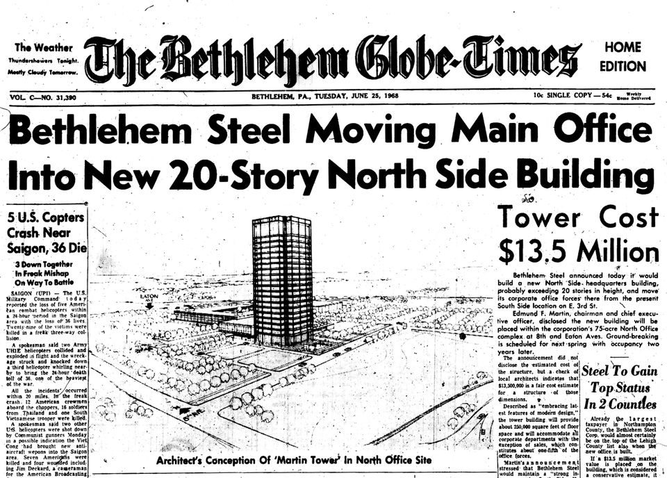 Martin Tower demolition: A photo history of the Bethlehem