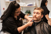 Springfield Thunderbirds players shave mustaches at MGM Springfield for cancer awareness (photos)