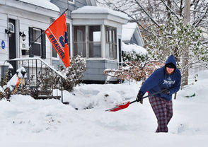 The first major snow storm of the season blankets Central New York.