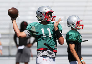 50. Brett Nezat, QB, Saraland (Above) Class: 2020 Height, weight: 6-5, 218 Committed: No College offers include: Georgia State, Idaho 49. Jeremy Moore, DT, Baldwin County Class: 2020 Height, weight: 6-3, 250 Committed: No College offers include: Florida Atlantic, Jacksonville State, Samford, Southern Miss. 48. Tucker Melton, QB, Central-Phenix City Class: 2020 Height, weight: 6-3, 205 Committed: No College offers include: NA 47. Reggie Bracy, CB, St. Paul's Class: 2020 Height, weight: 6-1, 190 Committed: No College offers include: South Alabama, Troy, UAB 46. Sam Rayborn, PK, Fairhope Class: 2020 Height, weight: 5-10, 180 Committed: No College offers include: NA