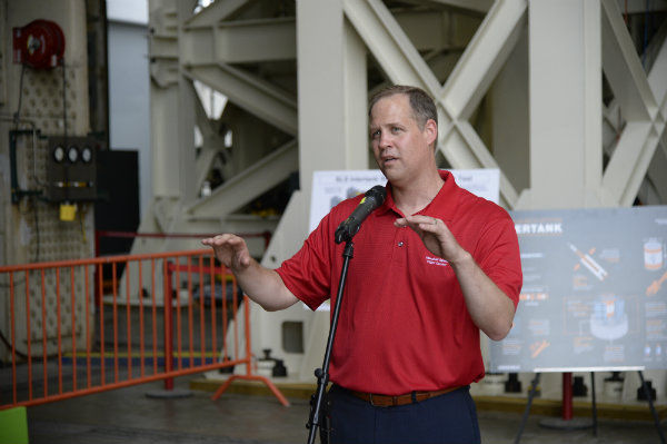 New NASA Administrator Jim Bridenstine tours Alabama's Marshall Space Flight Center in Huntsville for the first time.