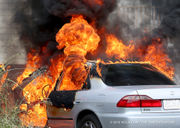 Car burns in Hoffman Triangle: See photos and video