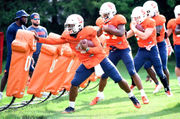 Syracuse RB Dontae Strickland, 2 other starters return (Day 17 notes/photos)