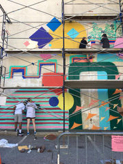 Art Bomb Brigade fills city block with color, design in Akron's Historic Arts District (photos)