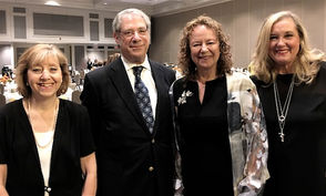 Shown at the Oct. 15, 2018, awards luncheon are, left to right, Kathy Shepard, Bill Hess, honoree Susan Hess, and Barbara Kaplinsky.