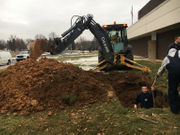 Water main break closes Nazareth Area school (PHOTOS)