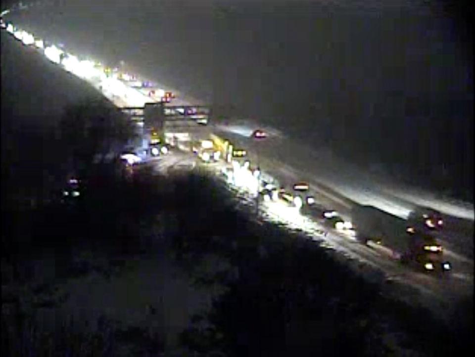 Nightmare commute has drivers stuck on highways, side roads