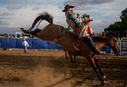 Boots hit the dirt at the 16th annual Gaines rodeo