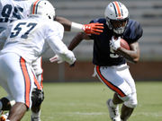 Auburn's running backs turnover-free in 1st scrimmage as battle for starting job continues