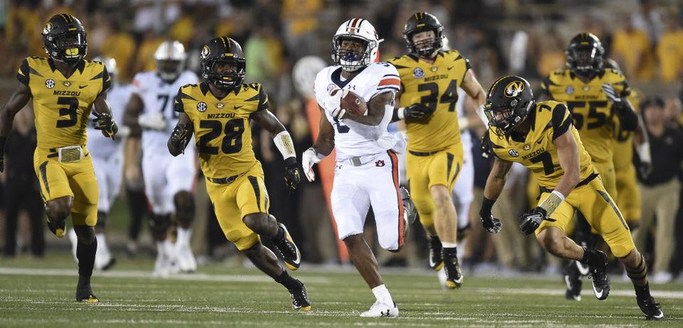 Auburn running back Kam Martin.